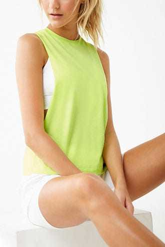 Forever 21 Active Muscle Tee  Neon Green - GOOFASH