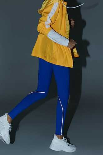 Forever 21 Active Total Coverage Seamed Leggings  Royal - GOOFASH