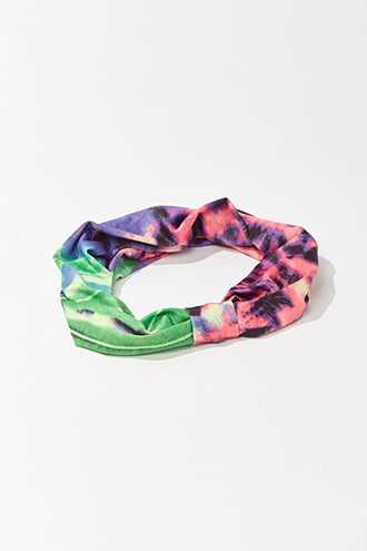 Forever 21 Animal & Leaf Print Headwrap  Pink/multi - GOOFASH