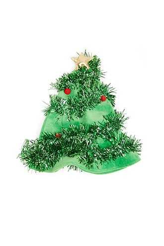 Forever 21 Christmas Tree Hat Green/multi - GOOFASH