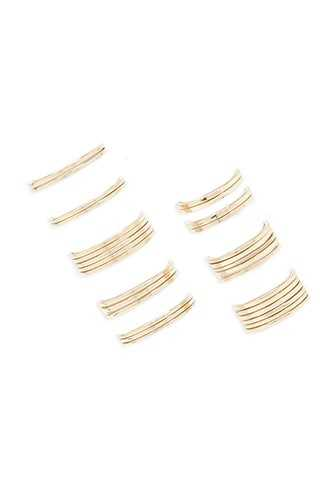 Forever 21 Classic Stackable Ring Set  Gold - GOOFASH