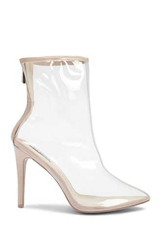 Forever 21 Clear Pointed Toe Booties  Nude - GOOFASH