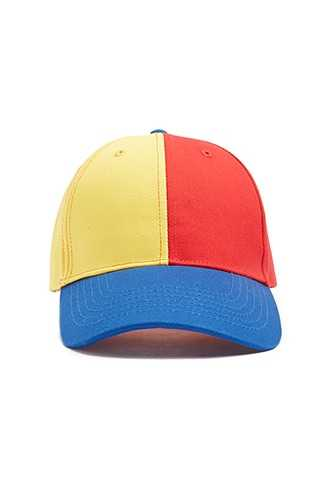 Forever 21 Colorblock Baseball Hat  Red/multi - GOOFASH