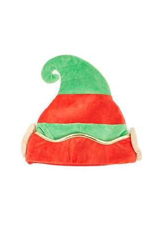 Forever 21 Colorblock Elf Hat  Green/red - GOOFASH