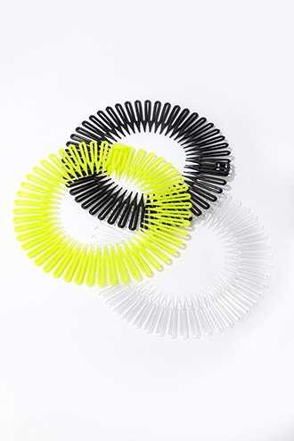 Forever 21 Comb Headband Set Yellow/black - GOOFASH