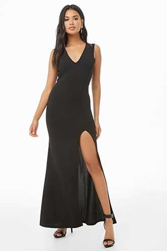Forever 21 Cutout-Back Maxi Dress  Black - GOOFASH