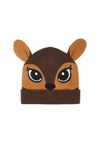Forever 21 Deer Knit Beanie  Brown - GOOFASH