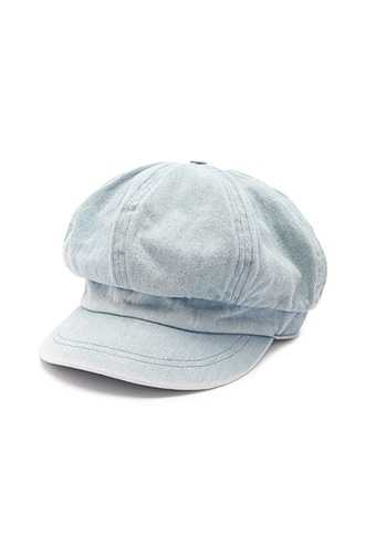 Forever 21 Denim Cabby Hat  Blue - GOOFASH