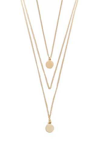 Forever 21 Disc Pendant Layered Necklace Set  Gold - GOOFASH