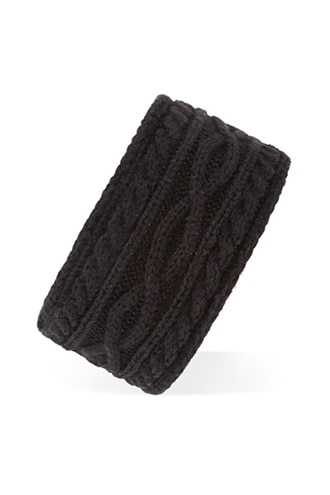 Forever 21 Faux Fur-Lined Headwrap  Black - GOOFASH