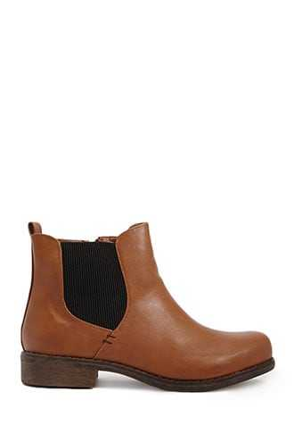Forever 21 Faux Leather Ankle Boots  Brown - GOOFASH
