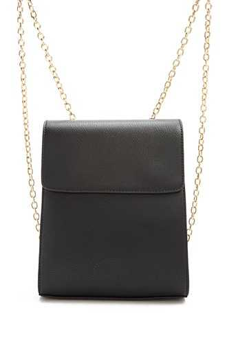 Forever 21 Faux Leather Backpack  Black - GOOFASH