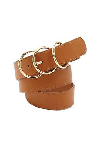 Forever 21 Faux Leather O-Ring Buckle Belt  Tan - GOOFASH