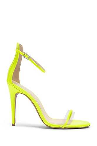 Forever 21 Faux Patent Leather Heels  Neon Yellow - GOOFASH