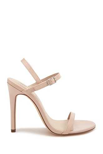 Forever 21 Faux Patent Leather Stiletto Heels  Nude - GOOFASH