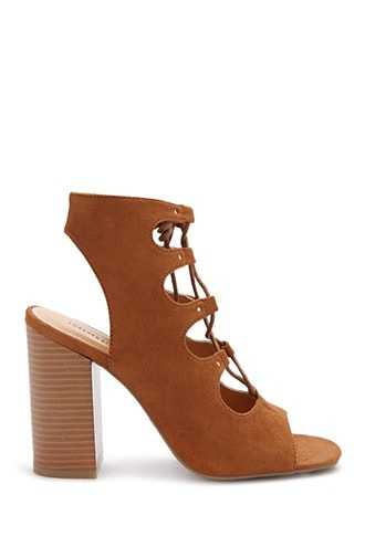 Forever 21 Faux Suede Booties  Tan - GOOFASH