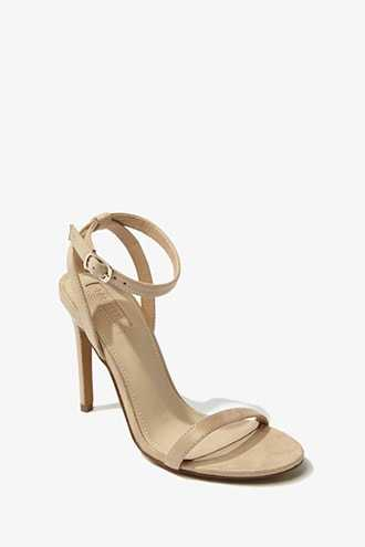 Forever 21 Faux Suede Stiletto Heels  Taupe - GOOFASH