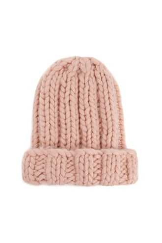 Forever 21 Foldover Ribbed Beanie  Pink - GOOFASH
