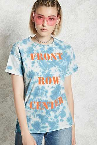 Forever 21 Front Row Center Graphic Tee  Blue/orange - GOOFASH
