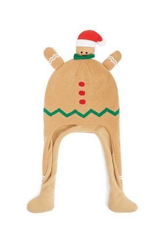 Forever 21 Gingerbread Trapper Beanie  Brown/multi - GOOFASH