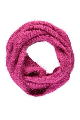 Forever 21 Girls Shaggy Infinity Scarf (Kids)  Hot Pink - GOOFASH