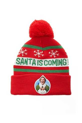 Forever 21 Graphic Santa Beanie  Red/multi - GOOFASH