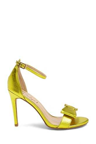 Forever 21 Lemon Drop by Privileged Bow High Heels  Yellow - GOOFASH