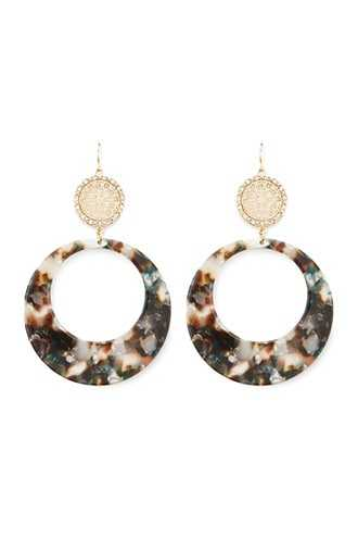 Forever 21 Marble Drop Earrings  Brown/multi - GOOFASH