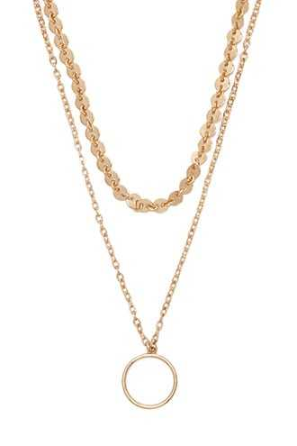 Forever 21 O-Ring Layered Necklace  Gold - GOOFASH