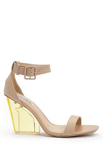 Forever 21 Open-Toe Lucite Heels  Nude - GOOFASH