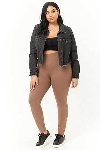 Forever 21 Plus Size Leggings Walnut - GOOFASH