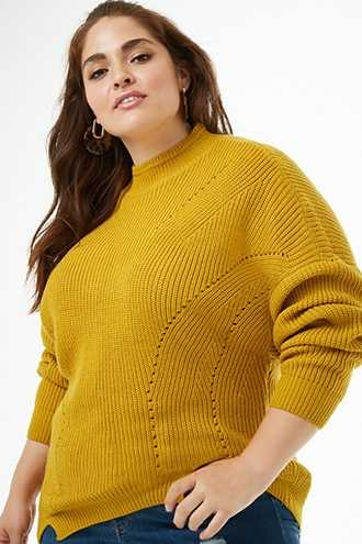Forever 21 Plus Size Ribbed Knit Dolman Sweater  Mustard - GOOFASH