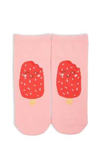 Forever 21 Popsicle Graphic Ankle Socks  Pink/multi - GOOFASH