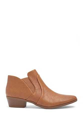 Forever 21 Qupid Faux Leather Booties  Camel - GOOFASH
