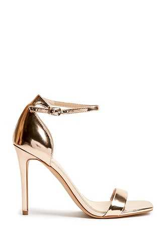 Forever 21 Square-Toe Stiletto Heels  Rose Gold - GOOFASH