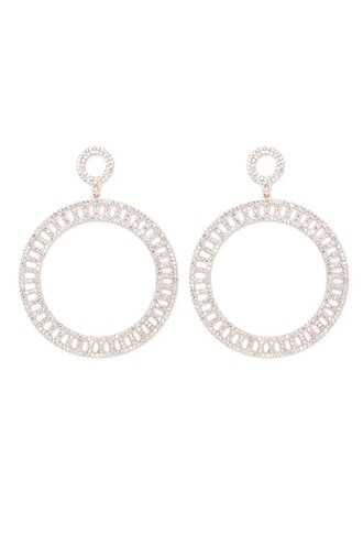 Forever 21 Statement Rhinestone Cutout Drop Earrings  Rose Gold/clear - GOOFASH