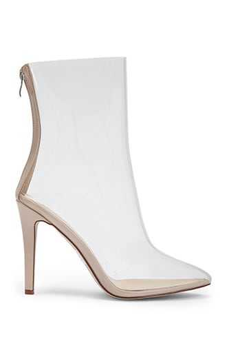 Forever 21 Transparent Stiletto Booties  Clear - GOOFASH