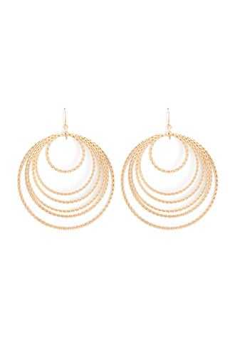 Forever 21 Twisted Tiered Hoop Drop Earrings  Gold - GOOFASH