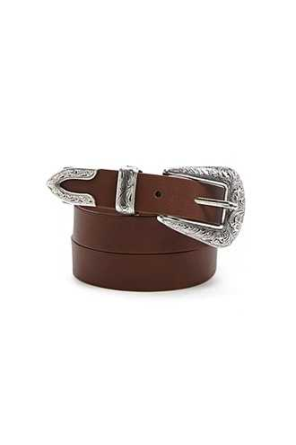 Forever 21 Western Faux Leather Belt  Brown - GOOFASH