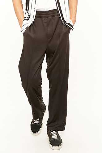 French Seam Track Pants at Forever 21  Black - GOOFASH