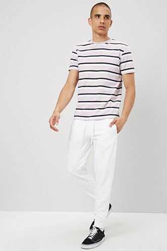 French Terry Drawstring Joggers at Forever 21  White - GOOFASH