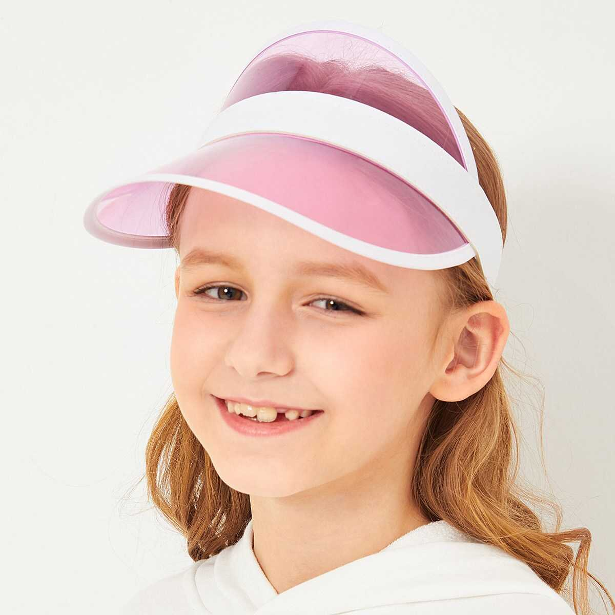 Girls Transparent Sun Visor Hat - Shein - GOOFASH