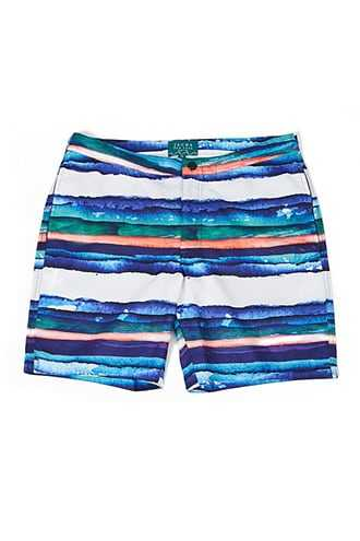 JACHS NY Abstract Striped Print Swim Trunks at Forever 21  Blue/multi - GOOFASH