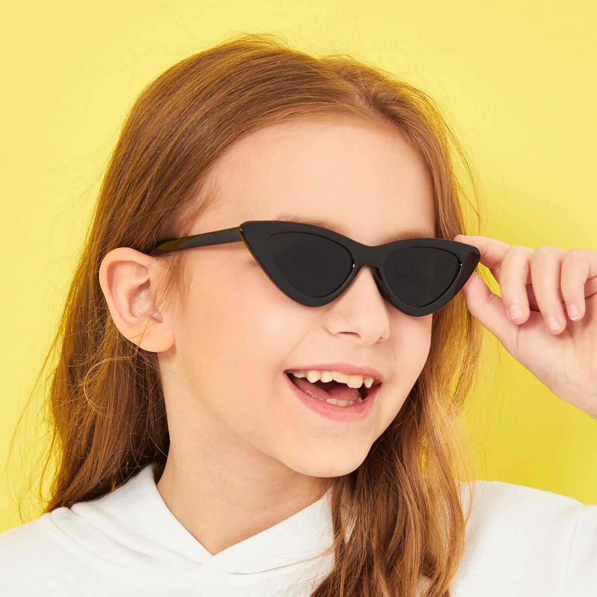 Kids Cat Eye Sunglasses - Shein - GOOFASH
