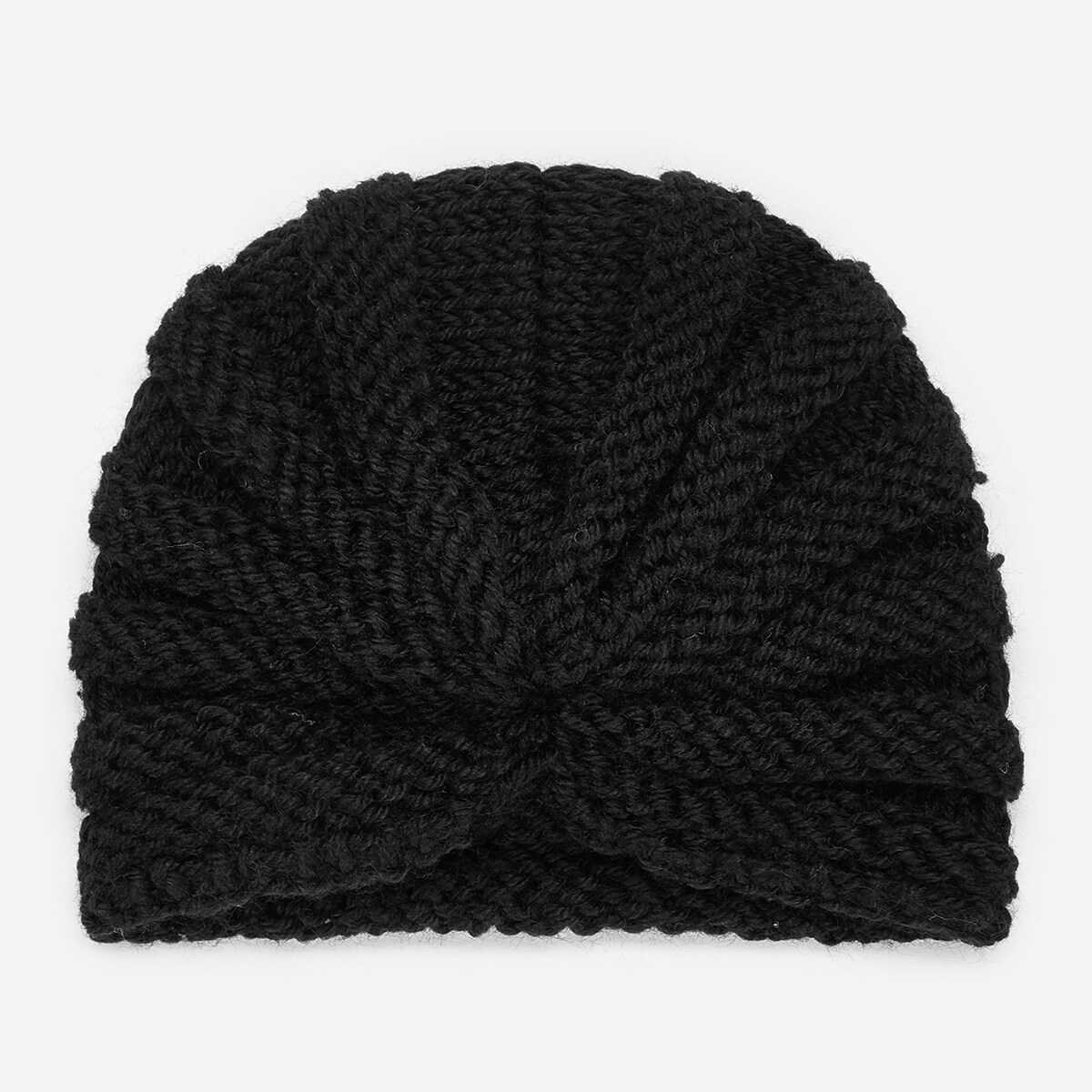Kids Plain Turban Hat - Shein - GOOFASH
