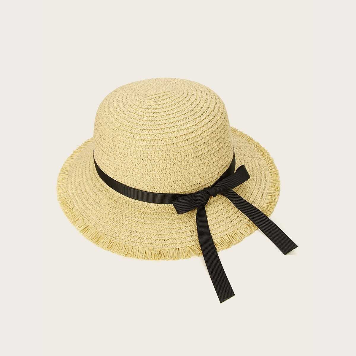 Kids Raw Edge Floppy Hat - Shein - GOOFASH