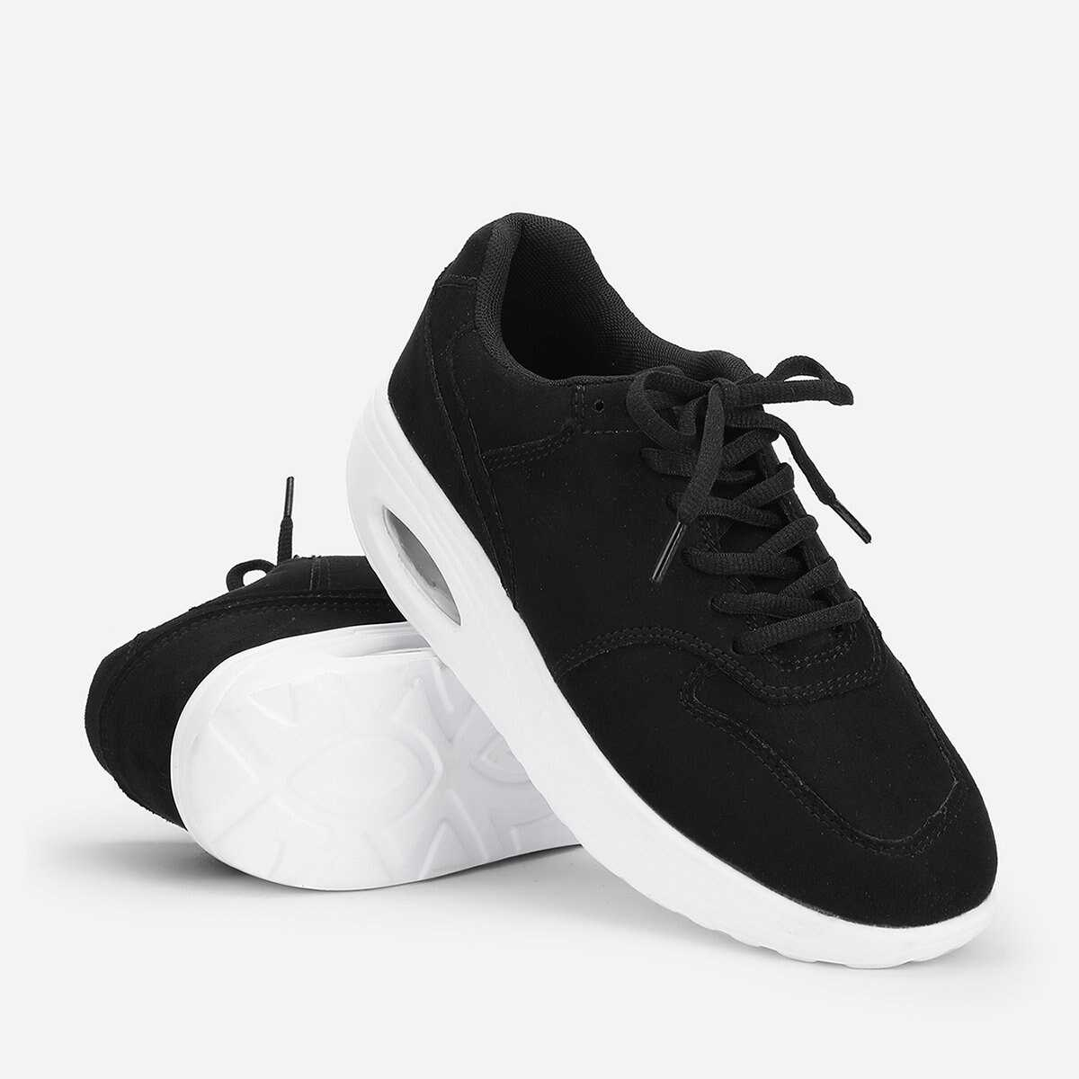 Lace Up Low Top Suede Sneakers - Shein - GOOFASH