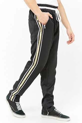 Lifted Anchors Metallic Stripe Track Pant at Forever 21  Black - GOOFASH