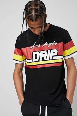 Los Angeles Drip Graphic Tee at Forever 21  Black/red - GOOFASH