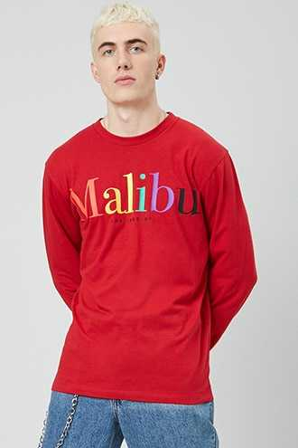 Malibu Los Angeles Graphic Top at Forever 21  Red/multi - GOOFASH